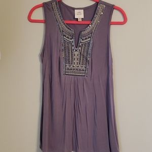 Knox Rose Embroidered Sleeveless Top